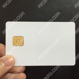 SLE4442 contact IC card 256byte white or pre-printing smart card